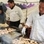 Chefs cooking Pork Yakiniku (BBQ Grilled )