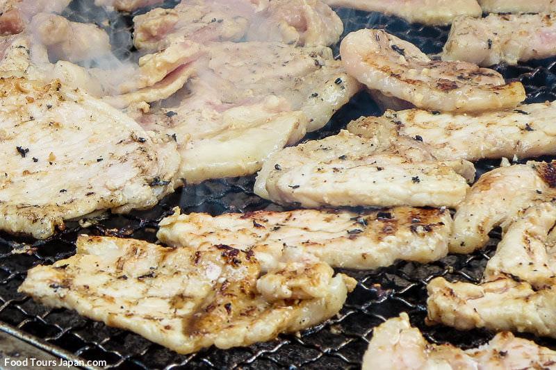 Yakiniku - Chargrilled BBQ Pork Marinated in Sake at Tondo Matsuri, Osaka