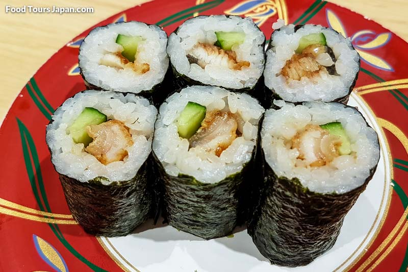 Eel and Cucumber Maki (Unakyu)