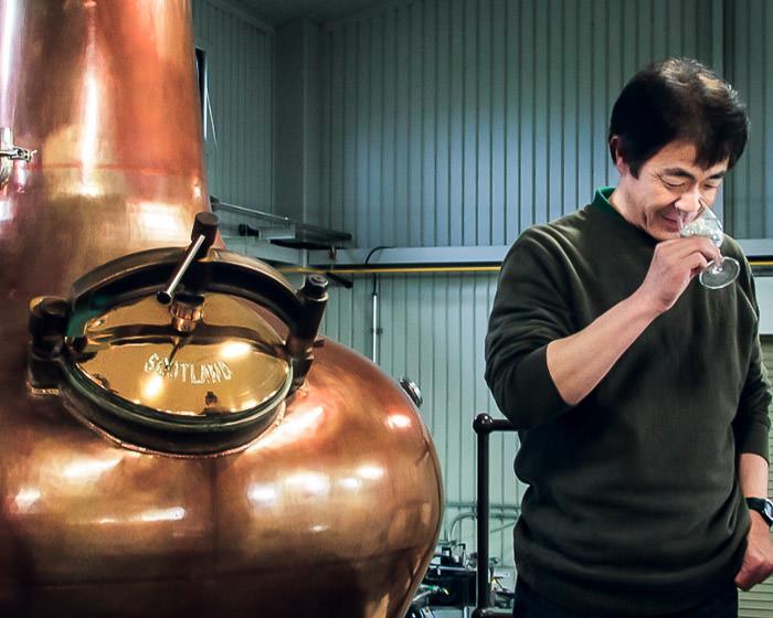 Ichiro Akuto nosing a new whisky