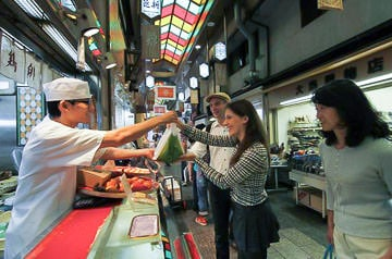 Nishiki Market Walking Tour Cooking Class Sake Tasting