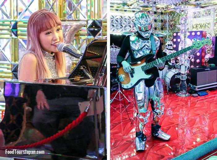 Robot Cabaret Show Shinjuku pre-show live band