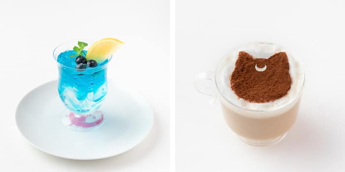 Sailor Moon Restaurant Tokyo - Sailor Mercury Luna Dessert Drinks